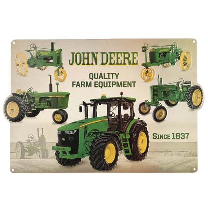 JOHN DEERE COLLAGE EMBOSSED TIN SIGN (18