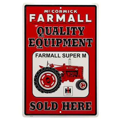 FARMALL QUALITY EQUIPMENT TIN SIGN (12