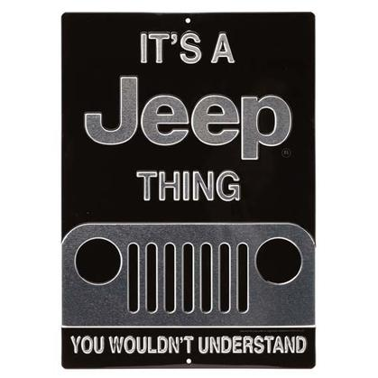 JEEP THING EMBOSSED TIN SIGN (10