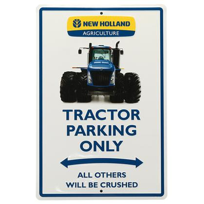 NEW HOLLAND PARKING TIN SIGN (12