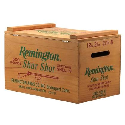 REMINGTON SHUR SHOT WOOD AMMO BOX (10