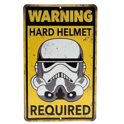 STAR WARS WARNING EMBOSSED TIN SIGN (6