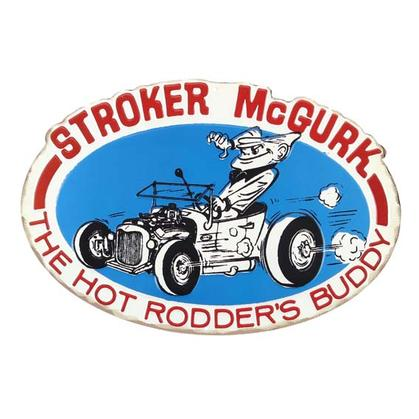 STROKER MCGURK EMBOSSED TIN SIGN 16