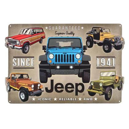 JEEP EMBOSSED TIN SIGN 18
