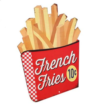 FRENCH FRIES EMBOSSED TIN SIGN 8