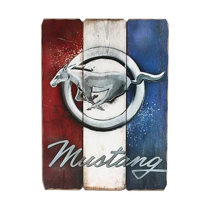 FORD MUSTANG WOOD WALL ART (16