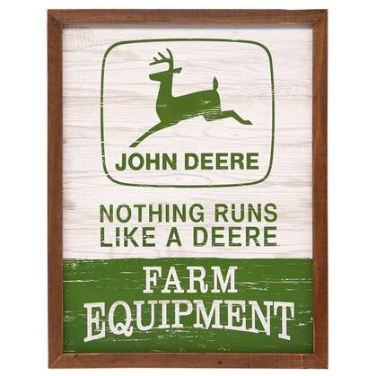 JOHN DEERE WOOD FRAMED WALL DECOR 14