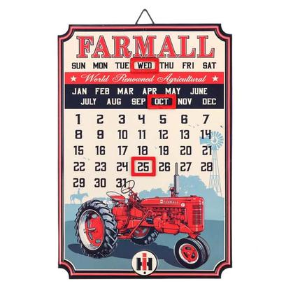 FARMALL EMBOSSED TIN CALENDAR (10
