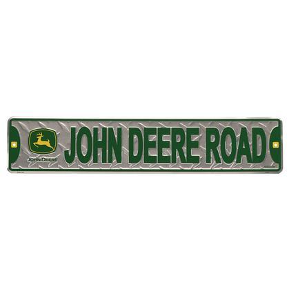 JOHN DEERE RD. EMBOSSED STREET SIGN (24