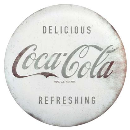 RUSTIC COCA-COLA TIN BUTTON (12