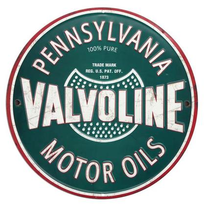 VALVOLINE EMBOSSED TIN SIGN (12