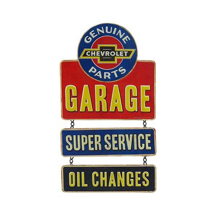 CHEVROLET EMBOSSED TIN LINKED SIGN (9
