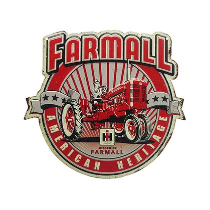 FARMALL AMERICAN HERITAGE EMBOSSED TIN SIGN (15