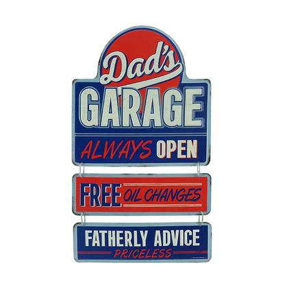 DAD'S GARAGE EMBOSSED TIN LINKED SIGN (9