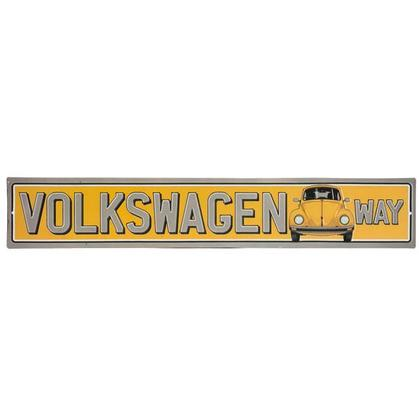 VOLKSWAGEN WAY STREET EMBOSSED TIN SIGN (20