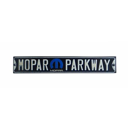 MOPAR PARKWAY EMBOSSED STREET TIN SIGN (20