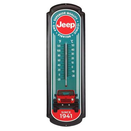 RED JEEP OVERSIZED THERMOMETER (8.5