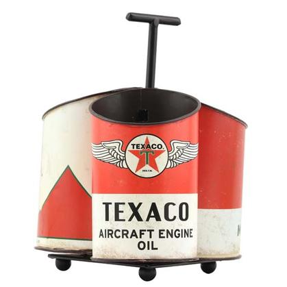 TEXACO OIL CAN CADDY (7