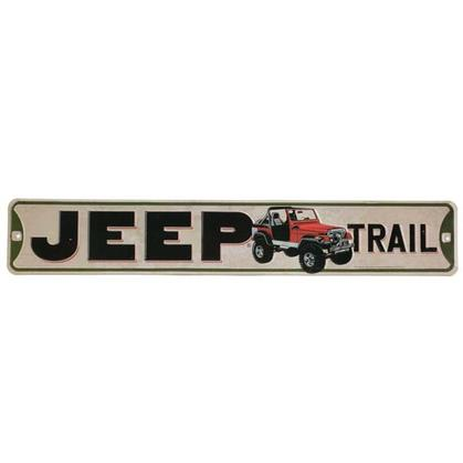 JEEP EMBOSSED TIN STREET SIGN (20
