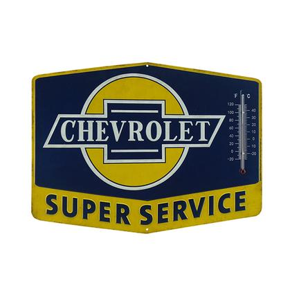CHEVROLET EMBOSSED TIN THERMOMETER (14