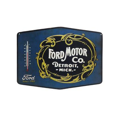 FORD EMBOSSED TIN THERMOMETER (14