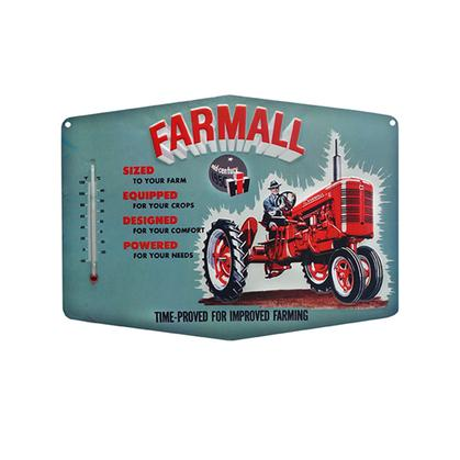 FARMALL EMBOSSED TIN THERMOMETER (14