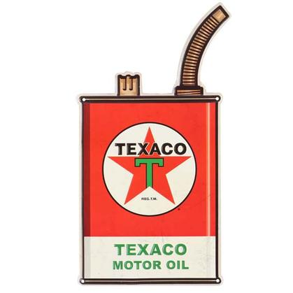 TEXACO GAS CAN EMBOSSED TIN SIGN (9