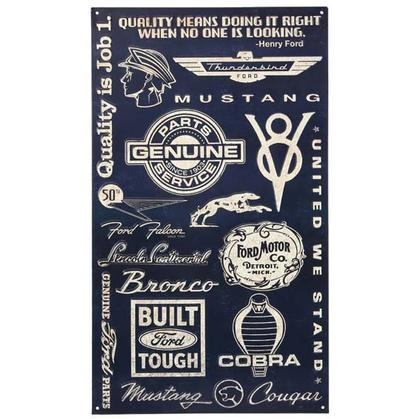 FORD LOGOS COLLAGE TIN SIGN (14