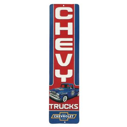 CHEVY TRUCK VERTICAL EMBOSSED TIN SIGN (5