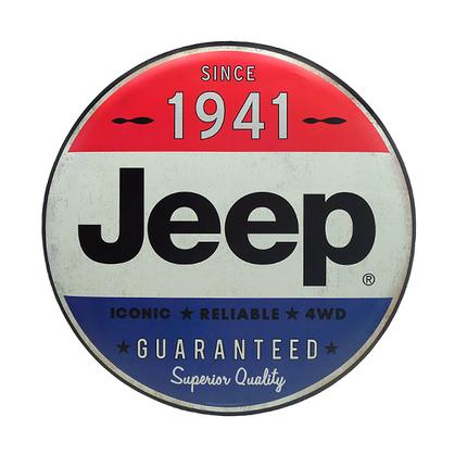 JEEP 24 INCH TIN BUTTON