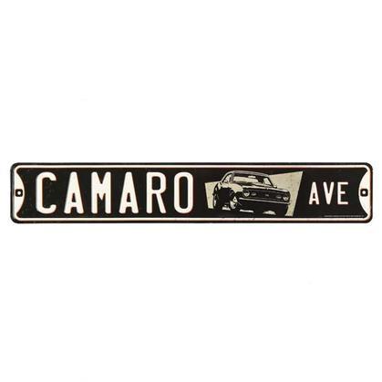 CAMARO AVE. EMBOSSED TIN STREET SIGN (20