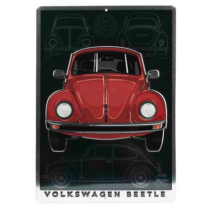 Volkswagen BEETLE EMBOSSED TIN SIGN (10