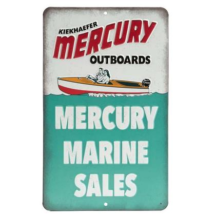MERCURY MARINE EMBOSSED TIN SIGN (6