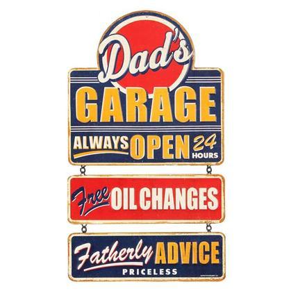 DAD'S GARAGE LINKED TIN SIGN (9