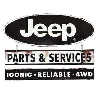 JEEP LINKED EMBOSSED TIN SIGN (15