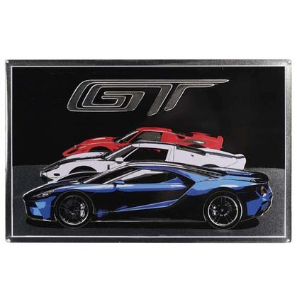 FORD GT RED WHITE & BLUE CARS TIN SIGN (20