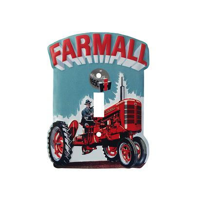 FARMALL EMBOSSED TIN SWITCH PLATE (4.18