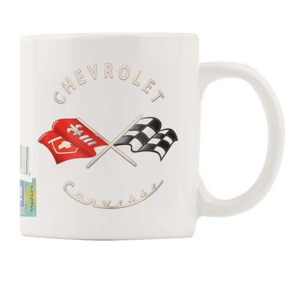 CHEVROLET CORVETTE WHITE CERAMIC 16 OZ. MUG