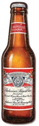 Budweiser Bottle 9.5W x 35.5