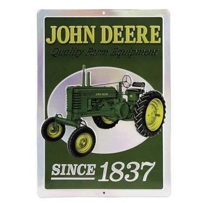 JOHN DEERE 1837 EMBOSSED TIN SIGN 10