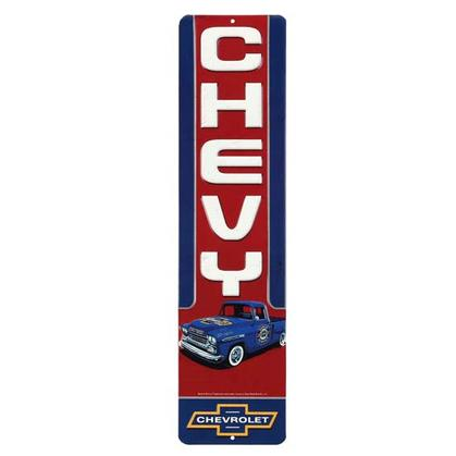 CHEVY TRUCK EMBOSSED TIN SIGN 4
