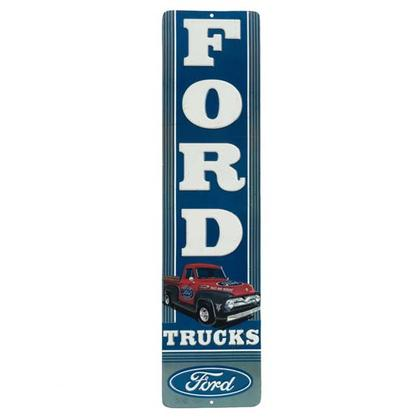FORD TRUCK TALL EMBOSSED TIN SIGN 4