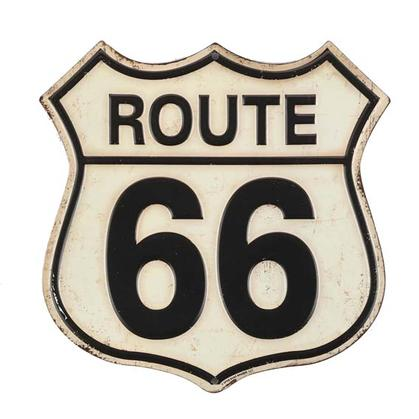 ROUTE 66 EMBOSSED TIN SIGN 8