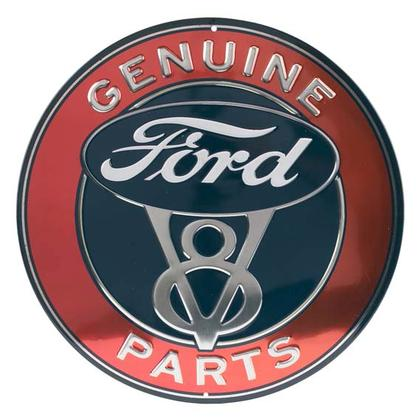 FORD PARTS EMBOSSED TIN SIGN 12