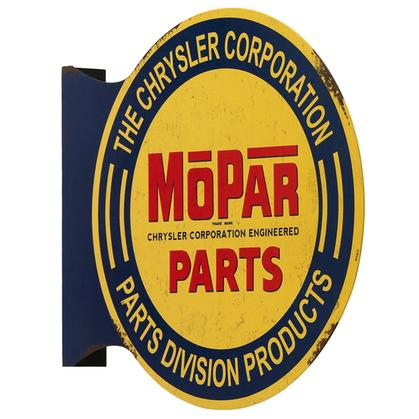 MOPAR PARTS FLANGED WALL SIGN 13.4