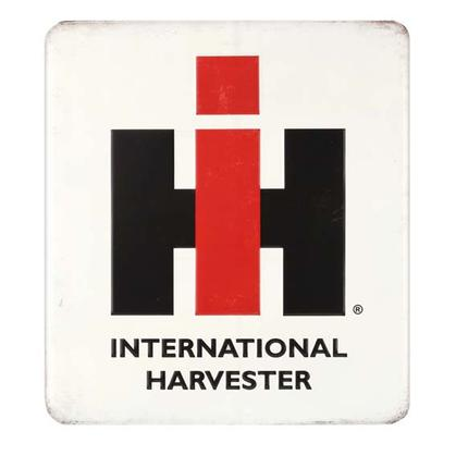 INTERNATIONAL HARVESTER EMBOSSED TIN SIGN 13.75