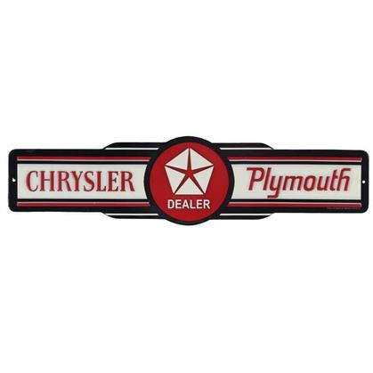 CHRYSLER PLYMOUTH EMBOSSED TIN SIGN 20