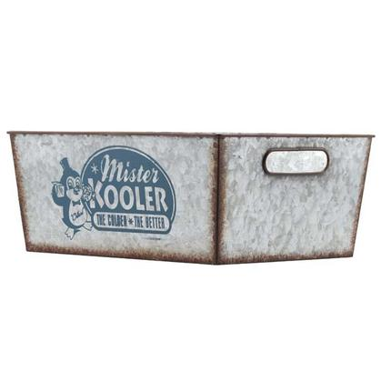 MISTER KOOLER GALVANIZED TIN CRATE