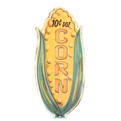 CORN EMBOSSED TIN SIGN 6