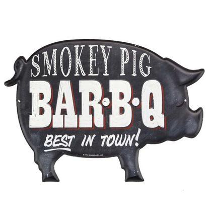 SMOKEY PIG EMBOSSED TIN SIGN 14